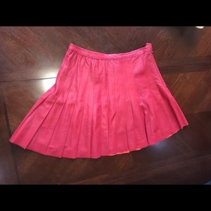 Cusp by Neiman Marcus Red 100% Leather Skirt Sz M